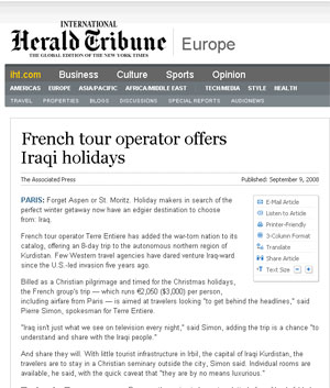 News : A report about Babel Tours in the International Herald Tribune